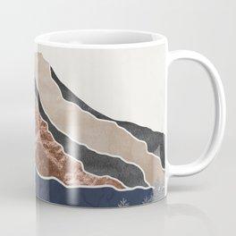 Mount Hood // Daylight Art Print Oregon Stratovolcano Rose Gold Silver Blue Cream Black Mountain Coffee Mug