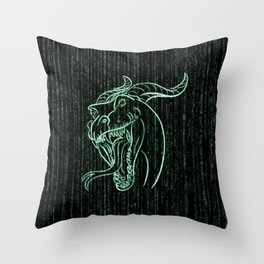 Wyrm in the Shell Throw Pillow