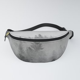 Black and White Forest Abstract Fanny Pack