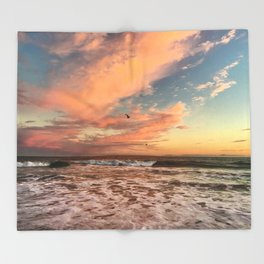 Cotton Candy Sunset Throw Blanket