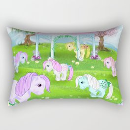 g1 my little pony stylized Collector ponies Rectangular Pillow