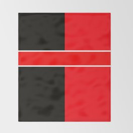 Team Colors 6...red,black,white Throw Blanket