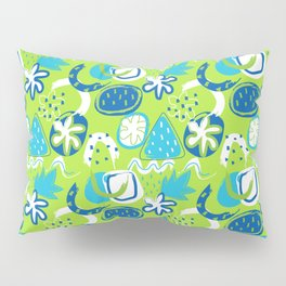 Brushstroke Abstracts - blue and green Pillow Sham