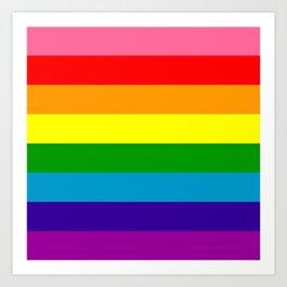 Rainbow Flag (Original Gay Pride Flag Colors) Art Print