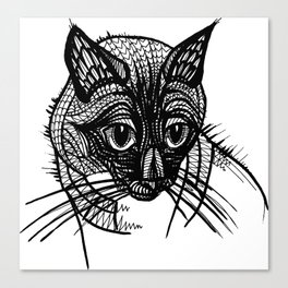 Miqo, the siames cat Canvas Print