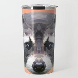 Raccoon // Apricot / Peach Travel Mug