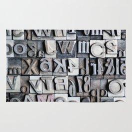 Letterpress Rug