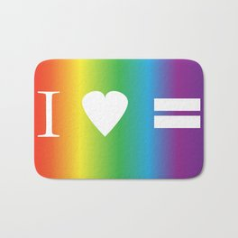 I heart Equality Bath Mat