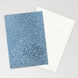Water Condensation 05 Blue Stationery Cards