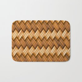 Golden Basket Weave Bath Mat