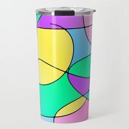 ABSTRACT CURVES #1 (Multicolor Light) Travel Mug