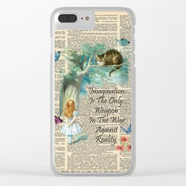 Alice In Wonderland Quote - Imagination - Dictionary Page Clear iPhone Case