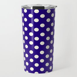 Polka Dot Party in Blue and White Travel Mug