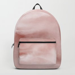 Rose brown Marble texture Backpack