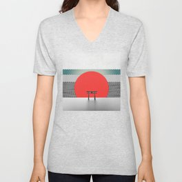 The Red Sun Unisex V-Neck