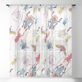 Stitches: Bugs Sheer Curtain