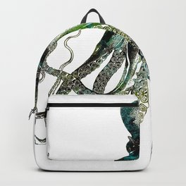 Octopus marine life watercolor art Backpack