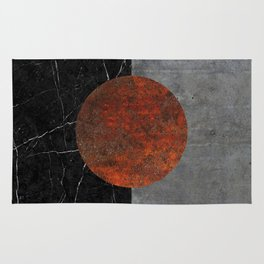 Abstract - Marble, Concrete, and Rusted Iron II Rug
