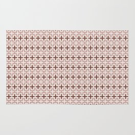 Guarda Pampa Pattern: Crosses in Lines & Outlines Rug