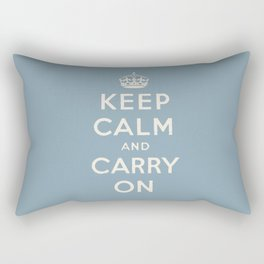 keep calm and carry on Rectangular Pillow