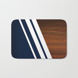 Wooden Navy Badematte