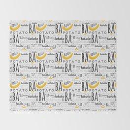 Minion - banana Throw Blanket