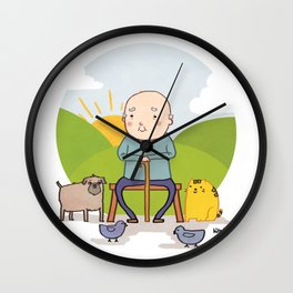 Mister Old Man Wall Clock