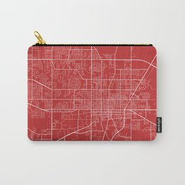Gainesville Map, USA - Red Carry-All Pouch