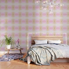 """Candy floss mood"" triangles design Wallpaper"