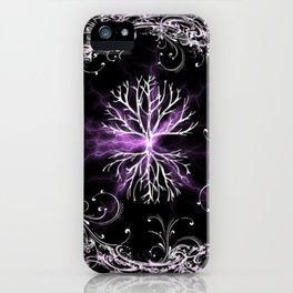 Tree of Life, Purple Universe, Cosmic Tree iPhone Case