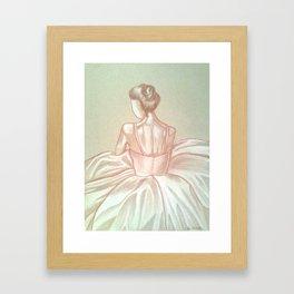 Ballerina in Color Framed Art Print