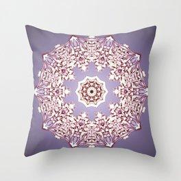 Flower Bud Mandala Throw Pillow