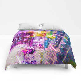 Retro Comic City Comforters