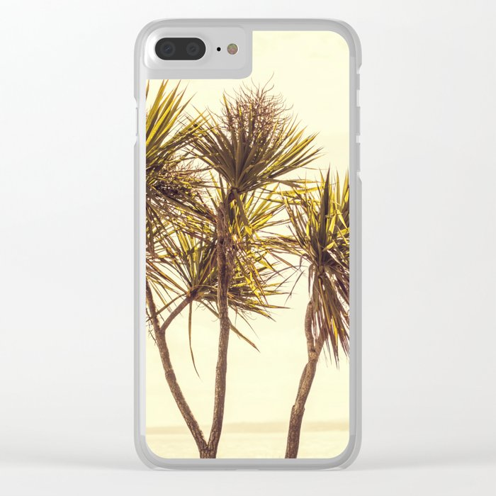 St. Ives Palms, Cornwall Clear iPhone Case