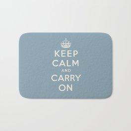 keep calm and carry on Bath Mat