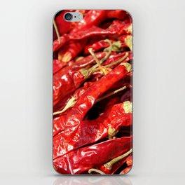Red Chilies Drying Kathmandu iPhone Skin