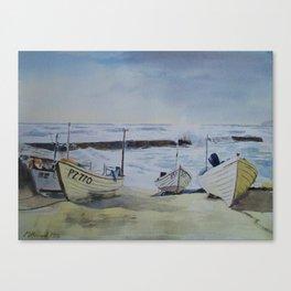 Sennen Cove Fishing Boats Canvas Print