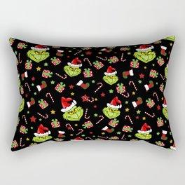 Grinch pattern Rectangular Pillow