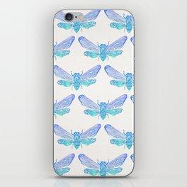 Summer Cicada – Blue Ombré Palette iPhone Skin