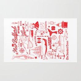 New Bedford Massachusetts Print Rug
