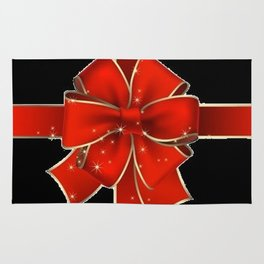 Red Bow on black Rug