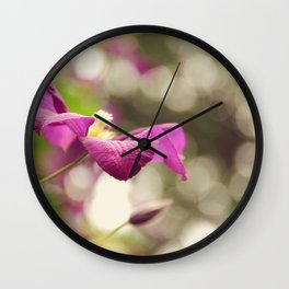 AFE Purple Clematis Wall Clock