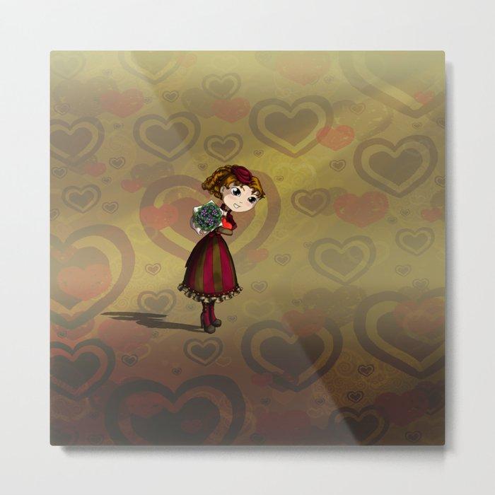 Posies and Chocolate Metal Print