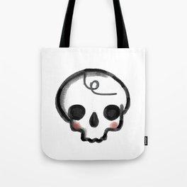 My Skully Friend - digital mixed media illustrated skeleton Tote Bag