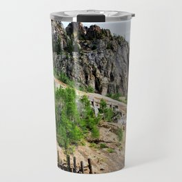 Sunnyside Mill and Rocky Crags Towering Overhead Travel Mug