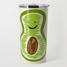Smiling Avocado Food Travel Mug