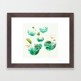 the hovering ponds. Framed Art Print
