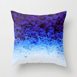 Indigo Blue Ombre Crystals Throw Pillow