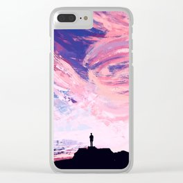 Lily of the Skies Clear iPhone Case
