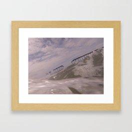 frisco pier Framed Art Print